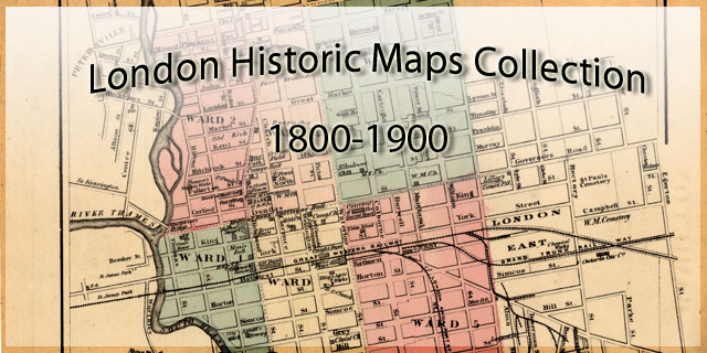 London Ontario Historical Maps Digitized Special Collections - London map historical