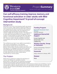 Can self-efficacy training improve memory and functional activation in older adults with Mild Cognitive Impairment? A proof-of-concept intervention study