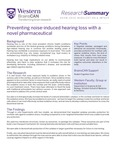 Preventing noise-induced hearing loss with a novel pharmaceutical