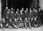 London Street Railway staff with blacksmith Bill Constable