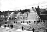 Fire Department hose test at London market