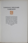 Canada's Welfare Campaign, 1919-1920 by National Publicity, Ltd.