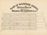 Plan of Woodside Survey, London South, Property of Charles Hutchinson, Esq're.