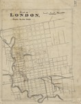 Plan of London shewing the gas lamps