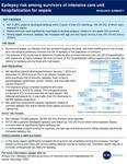 Epilepsy risk among survivors of intensive care unit hospitalization for sepsis