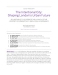 The Intentional City: Shaping London's Urban Future (Event Transcript) by Zack Taylor