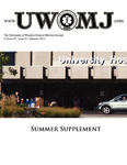UWOMJ Volume 81, Supplement S1, Summer 2012
