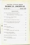 UWOMJ Volume 3, No 1, October 1932