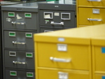Drawers of Grey and Yellow
